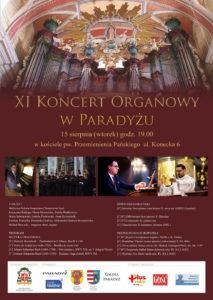 XI Koncert Organowy @ Kościół pw. Przemienienia Pańskiego w Wilekiej Woli - Paradyżu | Paradyż | województwo łódzkie | Polska