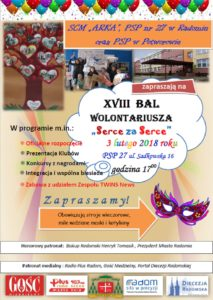 18. Bal Wolontariusza - Serce za Serce @ Publiczna Szkoła ppodstawowa nr 27 w Radomiu | Radom | mazowieckie | Polska