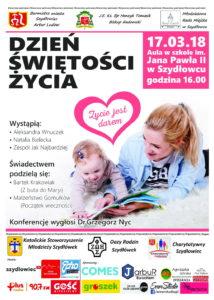 Dzień Świętości Życia w Szydłowcu @ Publiczna Szkoła Podstawowa nr 2 im. Jana Pawła II w Szydłowcu | Szydłowiec | mazowieckie | Polska