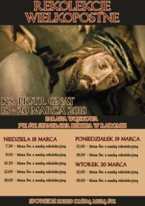 Rekolekcje Wielkopostne w kościele garnizonowym @ Kościół Garnizonowy pw. św. Stanisława Bpa w Radomiu | Radom | mazowieckie | Polska