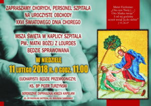 Dzień Chorego - Szpital na Józefowie @ Mazowiecki Szpital Specjalistyczny w Radomiu   Radom   mazowieckie   Polska