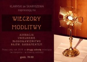 Wieczory Modlitwy u Klarysek @ Kaplica Klasztoru Sióstr Klarysek w Skaryszewie | Skaryszew | mazowieckie | Polska