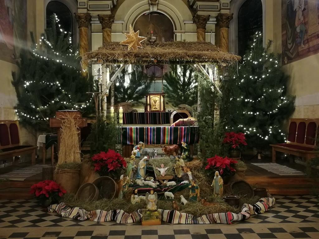 Szopka w kościele pw. św. św. Mikołaja w Wysokiej