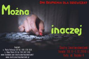 Można inaczej - Dni Skupienia dla Dziewcząt u Sióstr Zmartwychwstanek @ Kęty, ul. Rajska 4 | Kęty | małopolskie | Polska