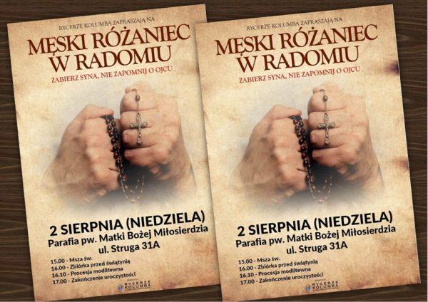 Sierpniowy Męski Różaniec @ Kościół pw. Matki Bożęj Miłosierdzia w Radomiu | Radom | Mazowieckie | Polska