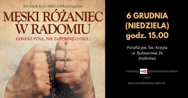 Męski Różaniec - Grudzień 2020 @ Parafia pw. Świętego Krzyża w Radomiu (Halinów) | Radom | Mazowieckie | Polska