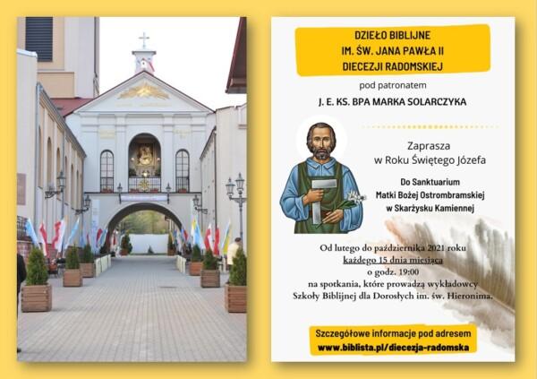 Spotkanie Dzieła Biblijnego w Ostrej Bramie @ Sanktuarium Matki Bożej Ostrobramskiej w Skarżysku-Kamiennej | Skarżysko-Kamienna | Świętokrzyskie | Polska