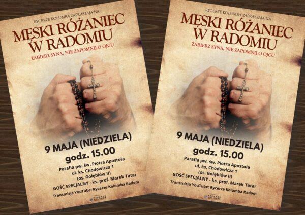 Męski Różaniec - maj 2021 @ Kościele pw. św. Piotra Apostoła w Radomiu   Radom   Mazowieckie   Polska