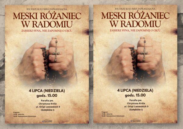 Lipcowy Męski Różaniec @ Kościół pw. Chrystusa Króla w Radomiu | Radom | Mazowieckie | Polska