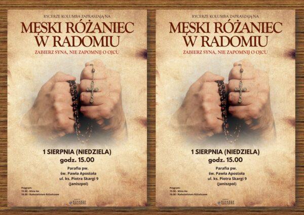 Męski Różaniec - sierpień 2021 @ Kościół pw. św. Pawła w Radomiu (Janiszpol) | Radom | Mazowieckie | Polska